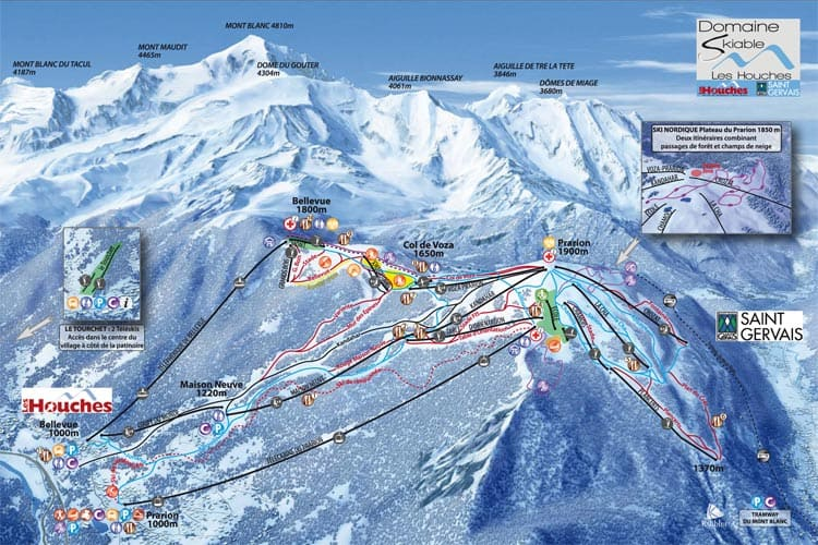 Les Houches ski map