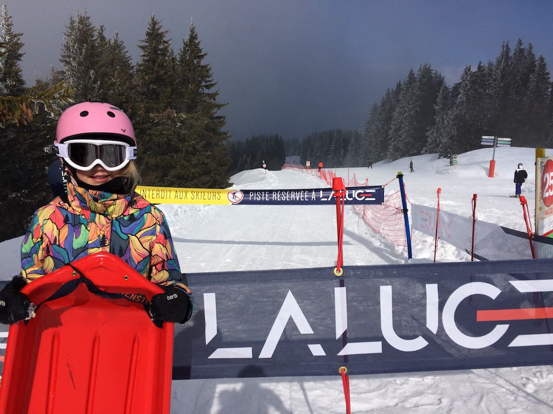 luging start point at megeve