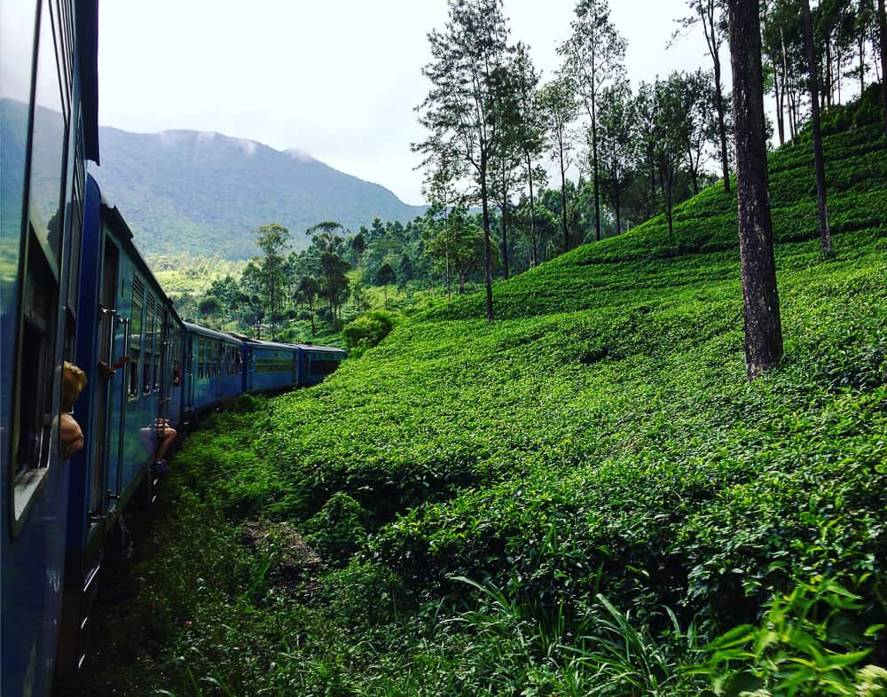 travelling on the train from Kandy to Ella Sri Lanka