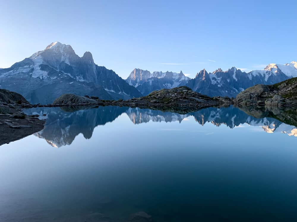 View from Lac Blanc refuge