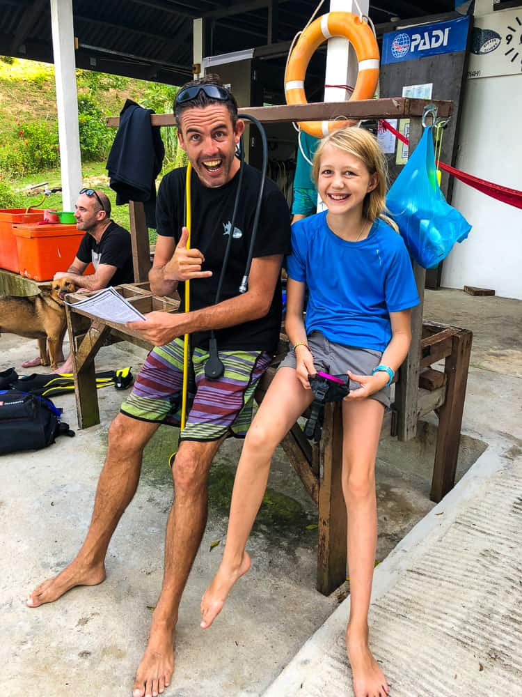 learn to dive in borneo