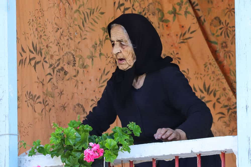 old lady in greece